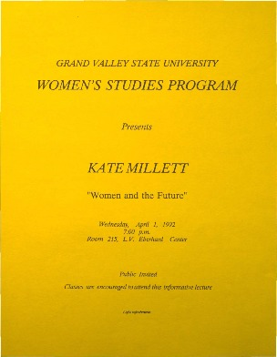 "Go to Kate Millet: ""Women and the Future"" item page"