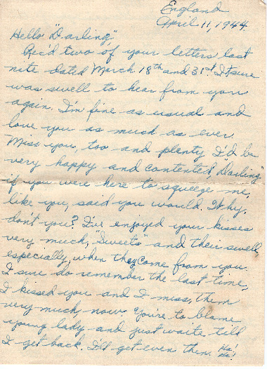 Go to Letter from Joe Olexa to Agnes Van Der Weide, April 11, 1944 item page