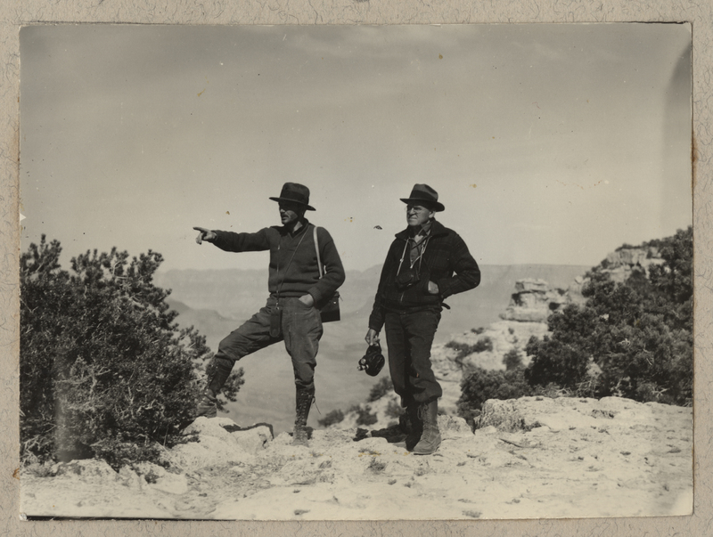 Go to Arizona. Annis and Angus on the rim of Grand Canyon item page