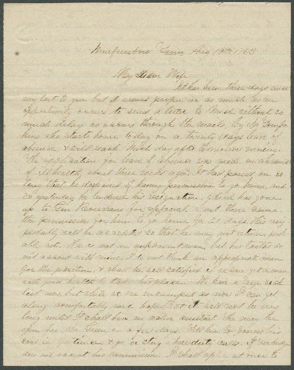Go to John Bennitt to his wife [Letter 090] item page