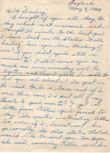 Go to Letter from Joe Olexa to Agnes Van Der Weide, May 4, 1944 item page