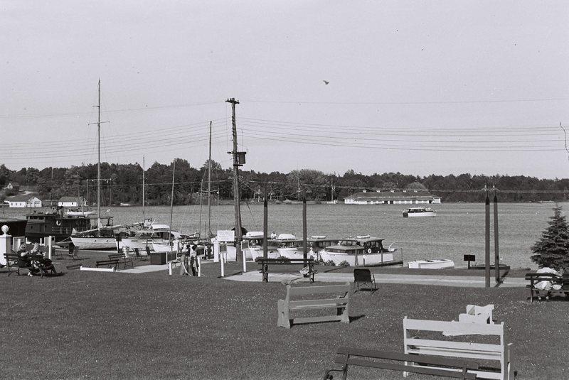 Michigan. Charlevoix Yacht Club on Round Lake