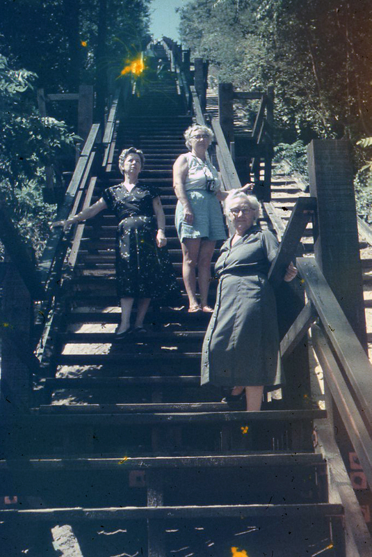 Go to Three women posing on a staircase item page