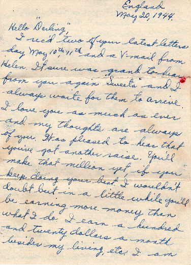 Go to Letter from Joe Olexa to Agnes Van Der Weide, May 20, 1944 item page