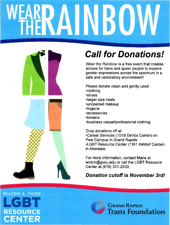 Go to Wear the Rainbow: Call for Donations! item page