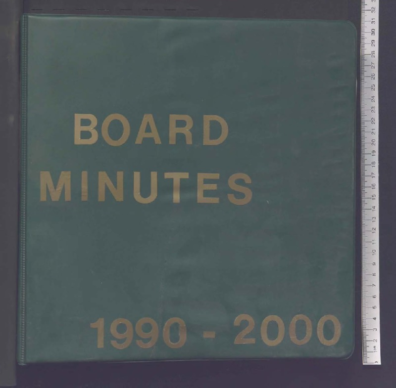 Go to B'nai Israel Temple Board of Trustees Minute Book, 1990-2000 item page