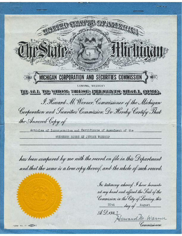 Go to Articles of Incorporation item page