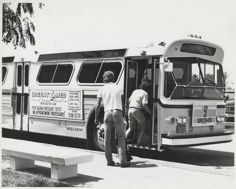 Go to Students boarding bus to downtown item page