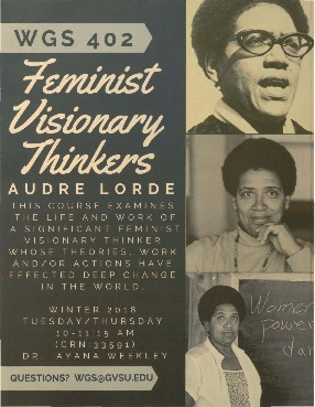Go to Feminist Visionary Thinkers: Audre Lorde item page
