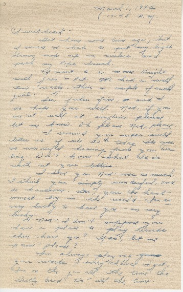 "Go to Letter to Edward ""Ned"" Manley by Jean Worthington, March 01, 1945. item page"
