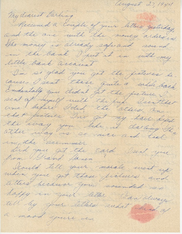 Go to Letter from Agnes Van Der Weide to Joe Olexa, August 27, 1944 item page