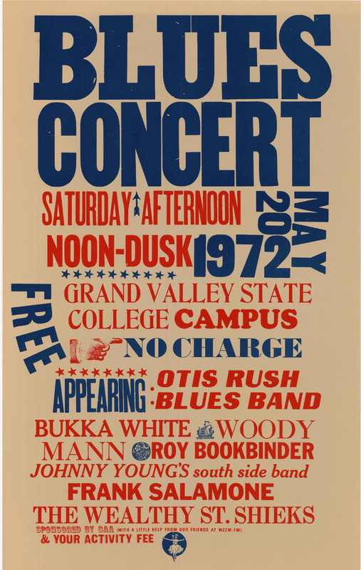 Go to Blues concert with Otis Rush Blues Band, Bukka White, and others, May 20, 1972 item page