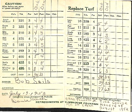 Go to West Shore Golf Links pamphlet and golf record item page