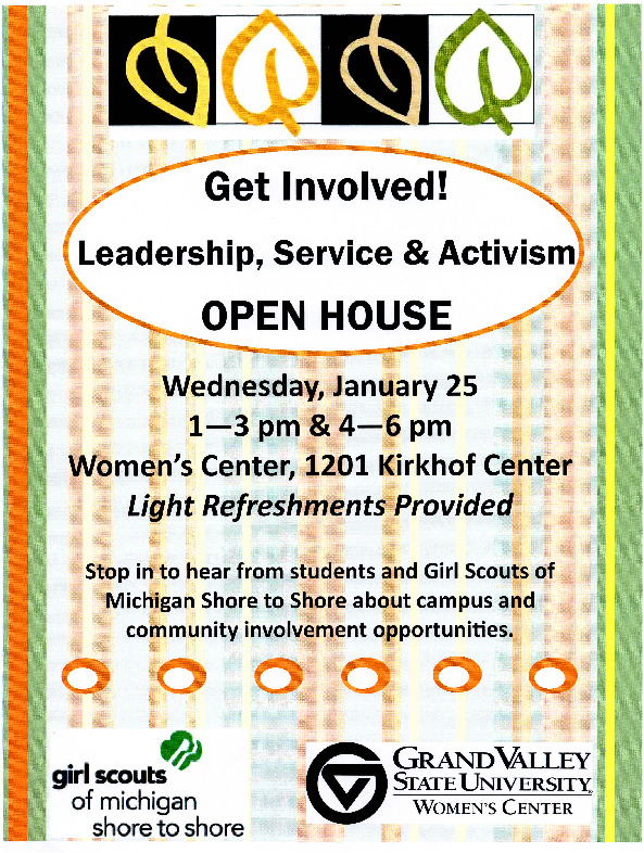 Go to Get Involved! Leadership, Service, and Activism Open House item page