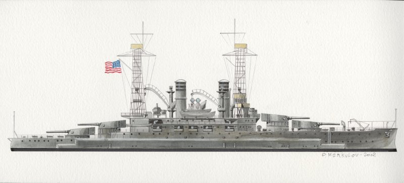 Go to Drawing of the U.S.S. Michigan item page