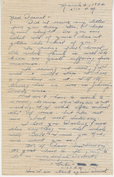 "Go to Letter to Edward ""Ned"" Manley by Jean Worthington, March 02, 1945. item page"