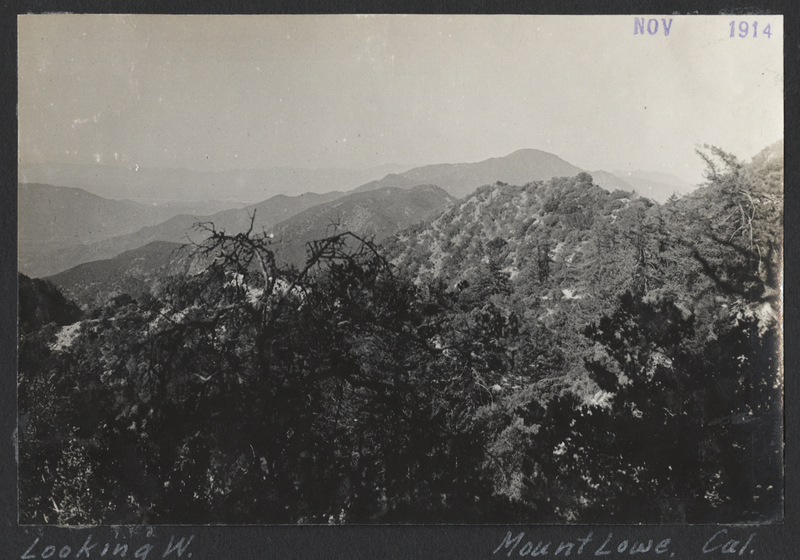 Go to California. Looking west on Mount Lowe item page