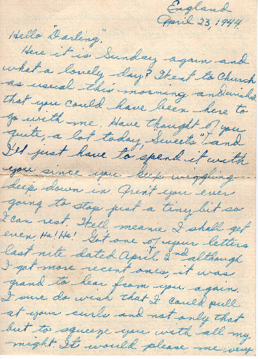 Go to Letter from Joe Olexa to Agnes Van Der Weide, April 23, 1944 item page