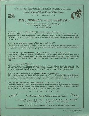Go to GVSU Women's Film Festival item page