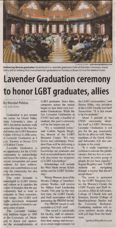 Go to Lavender Graduation ceremony to honor LGBT graduates, allies item page