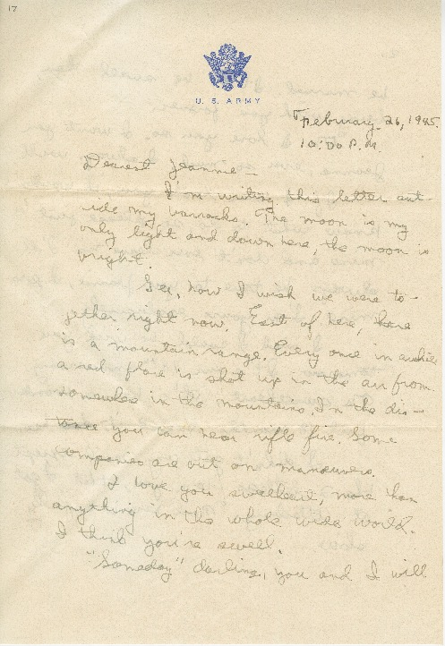 """Go to Letter to Jean Worthington by Edward """"Ned"""" Manley, February 26, 1945. item page"""