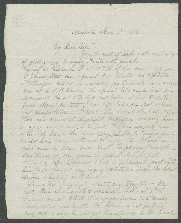 Go to John Bennitt to his wife [Letter 072] item page
