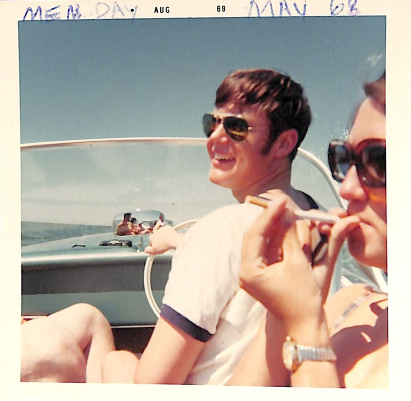 Go to Young couple boating on Lake Michigan item page