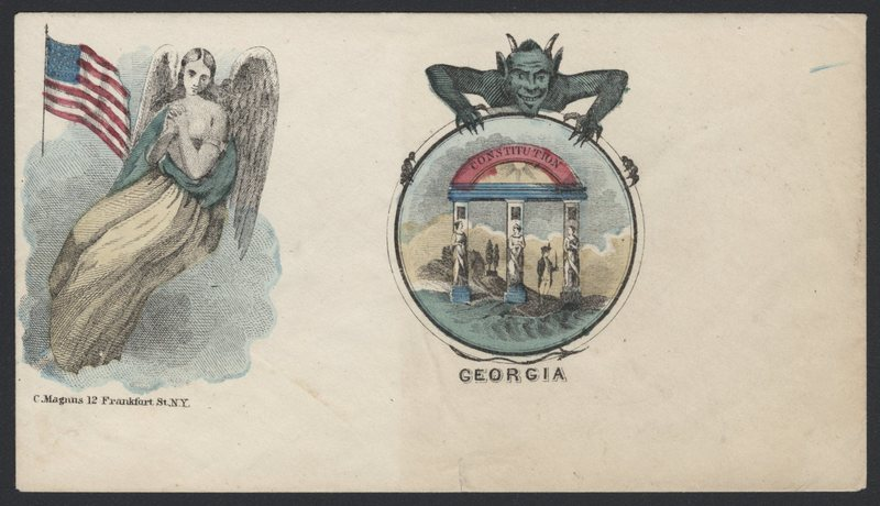 Go to Angel protecting the Union and devil attached to seal of Georgia item page