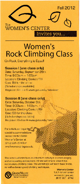 Go to Women's Rock Climbing Class item page