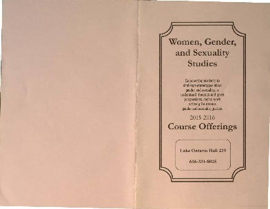 Go to Women, Gender, and Sexuality Studies Course Offerings 2015-2016 item page