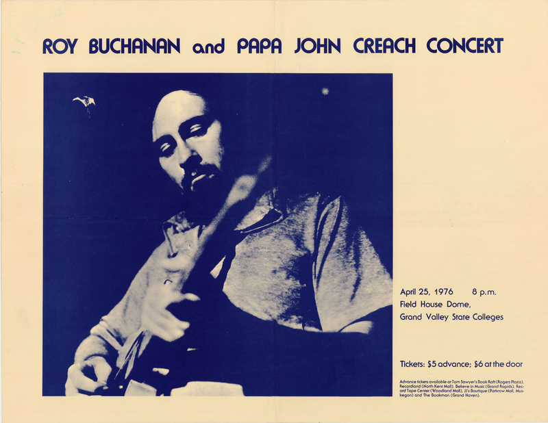 Go to Roy Buchanan and Papa John Creach, April 25, 1976 item page