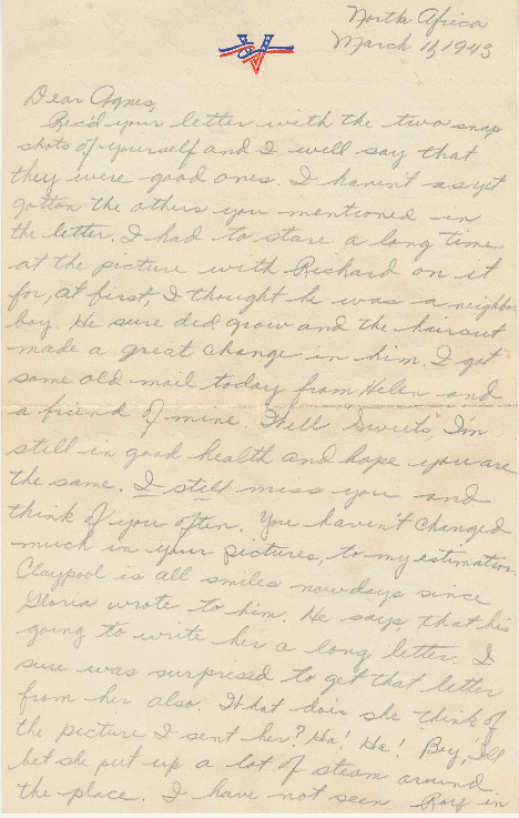 Go to Letter from Joe Olexa to Agnes Van Der Weide, March 11, 1943 item page