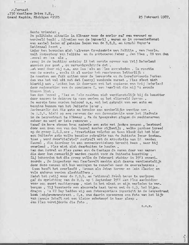 Go to Letters from M. A. Marbus item page