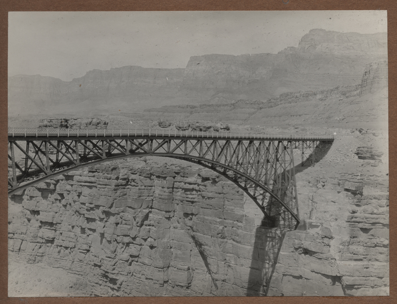 Go to Arizona. Bridge across Colorado River canyon, near Lee's Ferry item page
