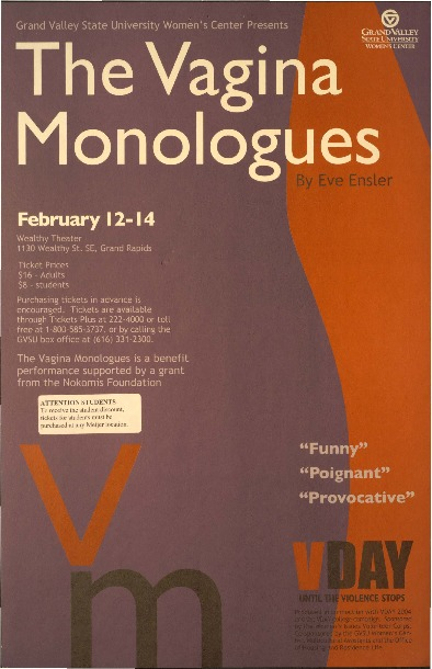 Go to The Vagina Monologues by Eve Ensler item page