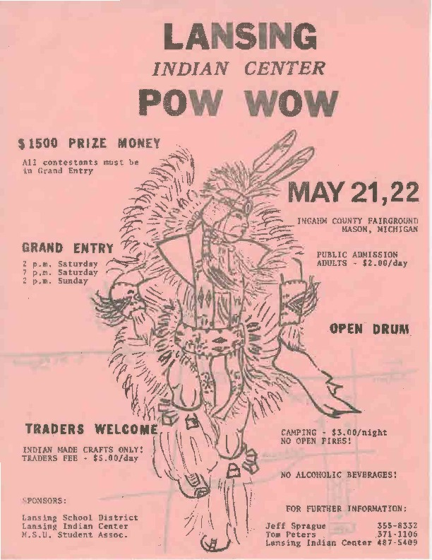 Go to Lansing Indian Center Pow Wow, May ???? item page