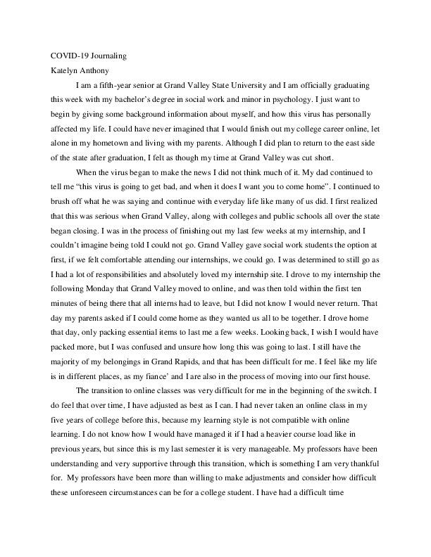COVID-19 Journaling