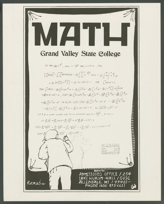 Go to Admissions poster for Grand Valley State College math program item page