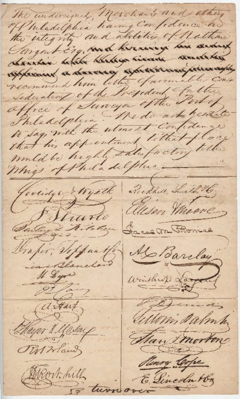 Petition for the Surveyor of the Port of Philadelphia, [date of publication not identified]