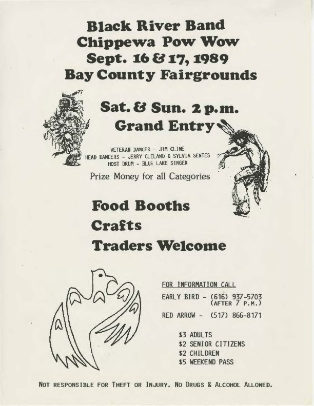 Go to Black River Band Chippewa Pow-wow, September 1989 item page
