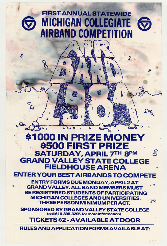 Go to First annual statewide Michigan collegiate airband competition, April 7, 1984 item page