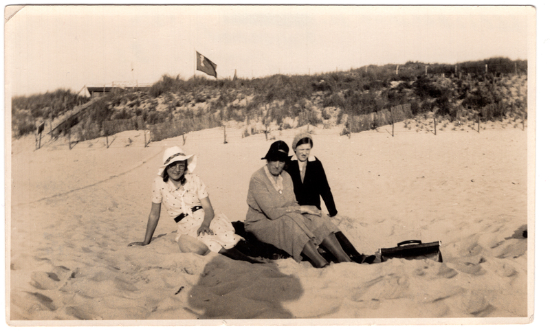 Go to Adriana B. Schuurman at the beach, 1932 item page