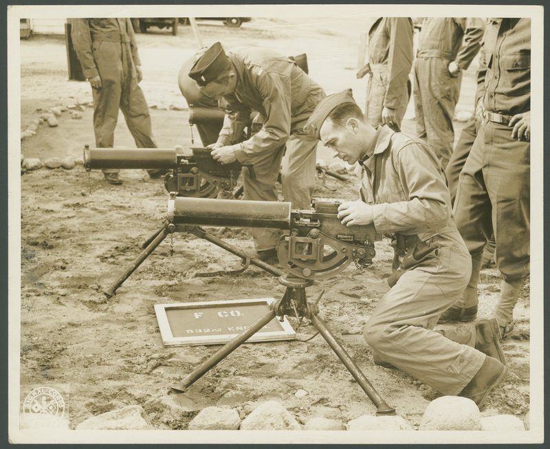 Go to Officers Specialists School machine gun classes at Camp Edwards item page