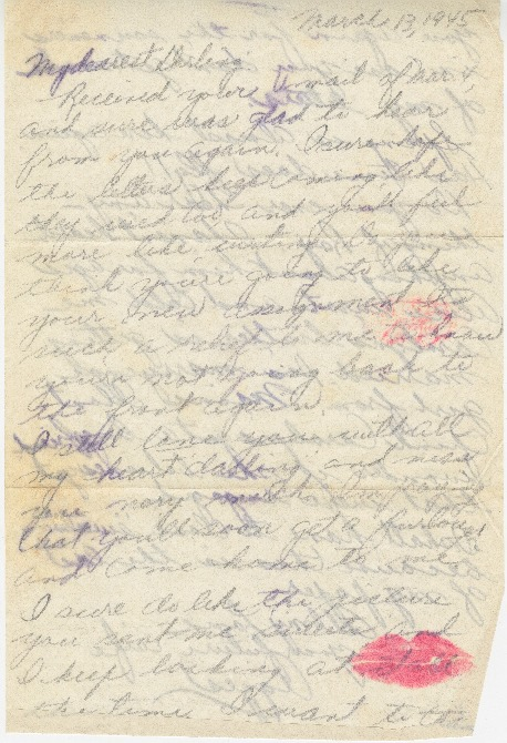 Go to Letter from Agnes Van Der Weide to Joe Olexa, March 13, 1945 item page
