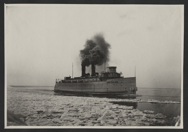 Go to Michigan. Grand Trunk carferry off coast of Grand Haven item page