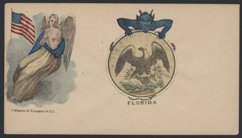 Go to Angel protecting the Union and devil attached to seal of Florida item page
