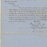 Petition for U.S. Auditor position, May 19, 1849