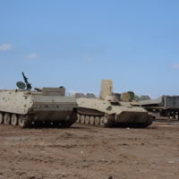 Go to Captured Iraqi armor sitting at FOB Morez item page