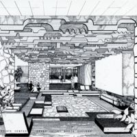 Seidman House. Architect's drawing of student study lounge