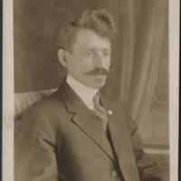 Picture post card of painter Mathias Alten